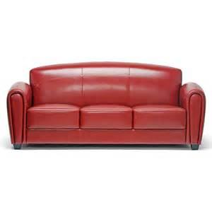 sofa leder rot leather sofa by baxton studio fab
