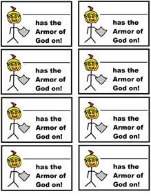 armor of god coloring set