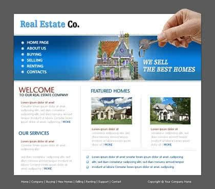 Free Website Templates With Real Estate Theme 1 Real Estate Website Templates