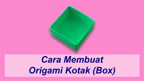 cara membuat video indovidgram cara membuat origami kotak box youtube