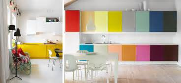 Colorful Kitchen Cabinets by Black White Yellow Colorful Kitchen Cabinets