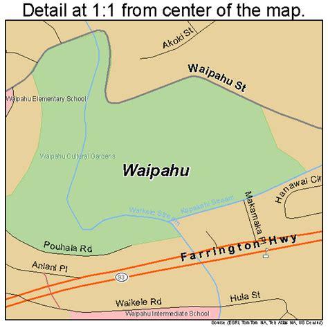 waipahu map waipahu hawaii map 1579700