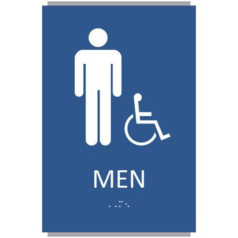 men bathroom sign ada braille men restroom sign sign design associates inc