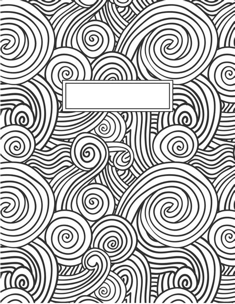 Coloring Page Binder Cover by Awesomeprintstudio Com Raskraski Dlya Oblozhek Shkolnyih