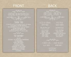Wedding Reception Programs Examples Wedding Program Wedding Reception Wedding Thank You