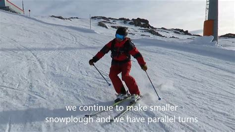 skiing parallel turn simple exercise  youtube