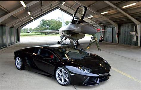 F 16 Vs Lamborghini by Lamborghini Aventador Vs F16 Fighting Falcon Bugatti