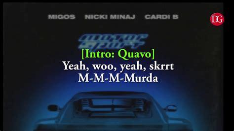 motorsport nicki minaj lyrics motorsport migos nicki minaj cardi b motorsport