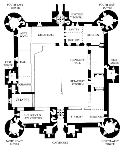 castles floor plans bodiam castle french and english riviera