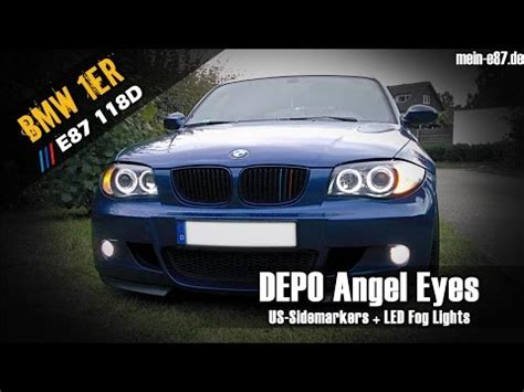 Bmw 1er E87 Angel Eyes Nachrüsten by Bmw 1er E87 Welcome Lights Depo Angel Eyes Youtube