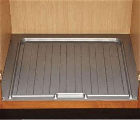 Kitchen Sink Cabinet Liner Home Decorators Collection 34 5x1x23 25 In Sink Base Drip Liner For 33 36 In Cabinets In Gray