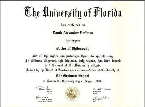 Uf Time Mba Business Major by Diplomas