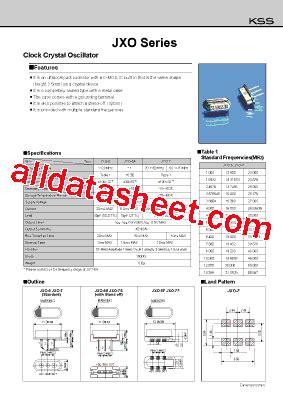 Marker 5 5 Kss By Wobble jxo 5 datasheet pdf kyocera kinseki corpotation