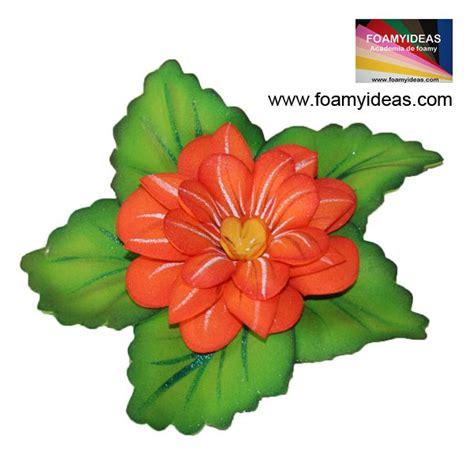 flores de foamy orange flower flor de color anaranjado hecho de foamy