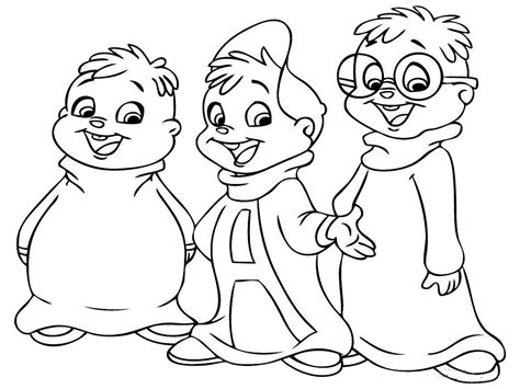 kids color alvin and the chipmunks coloring pages realistic
