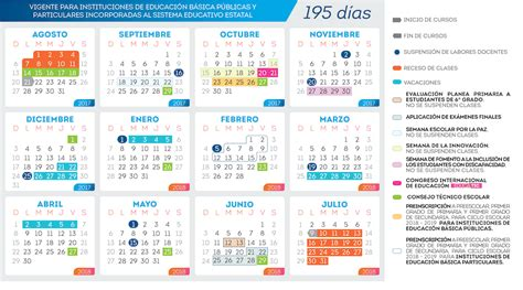Calendario Escolar 2017 18 Mexico Calendario Escolar 2017 2018 Gobierno Estado De
