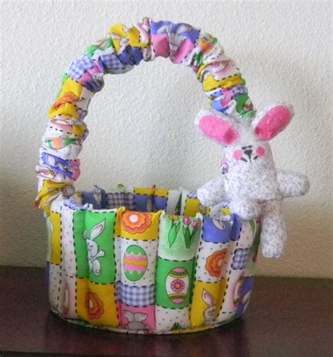 Quilted Baskets by Quilted Easter Basket Fabric Basket Handmade Basket By