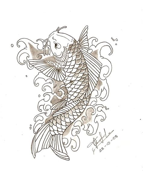 neo traditional koi fish tattoo koi fish pez koi by