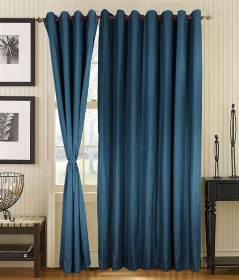 long door curtains online s9home by seasons blue plain polyester long door curtain 2