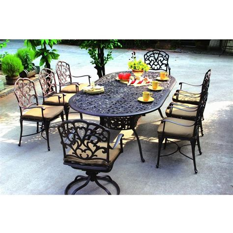 darlee catalina 9 piece cast aluminum patio dining set