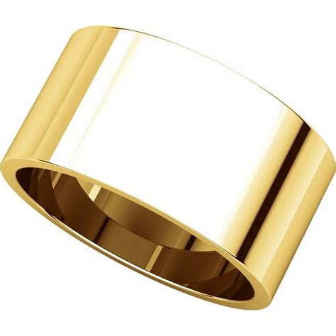 14k Yellow Gold Wedding Band by F33661 14k Yellow Gold 10mm Wide Wedding Band