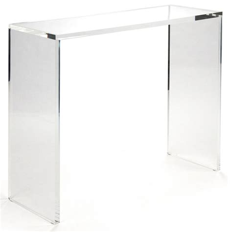 "Clery Modern Classic Clear Acrylic Console, 36"" & Reviews Houzz"