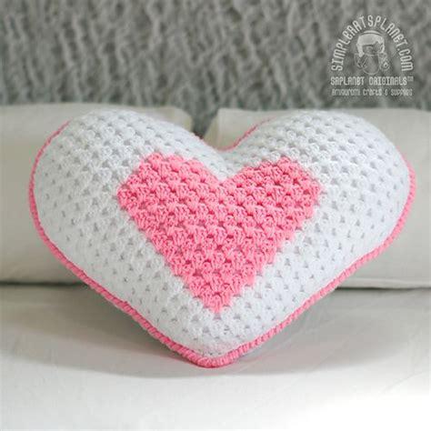pattern for a heart pillow heart pillow ring bearer crochet pattern 2 sizes
