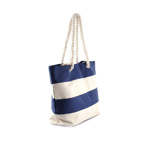 nautical tote bag pattern nautical love navy white striped tote bag with rope
