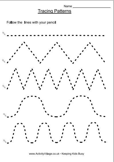 pattern activities for 5 year olds tracing patterns homeschool pinterest tracing