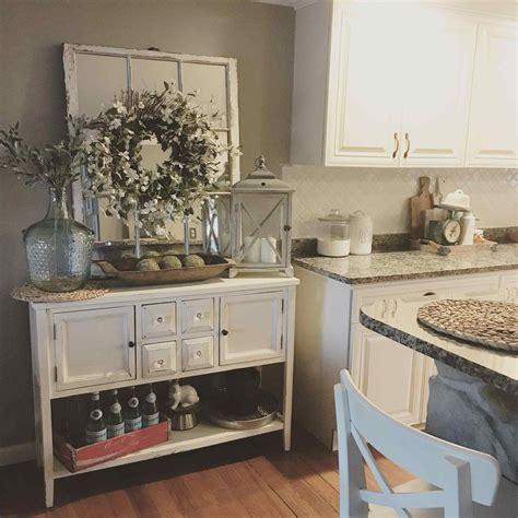 farmhouse country style distress rustic style farmhouse buffet decor inspiration