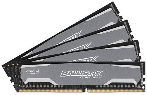 Memory Ram Ocpc Gaming 8gb Ddr4 Kit 2x4gb crucial ddr4 ballistix sport 2400mhz cl16 memory kits