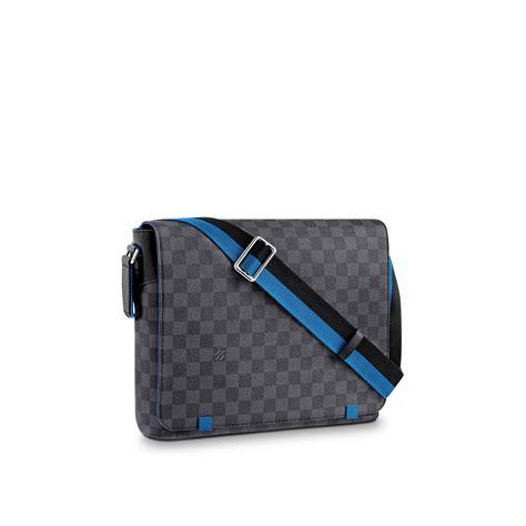 Louis Vuitton New Port Damier Graphite Mm district mm damier graphite canvas travel louis vuitton