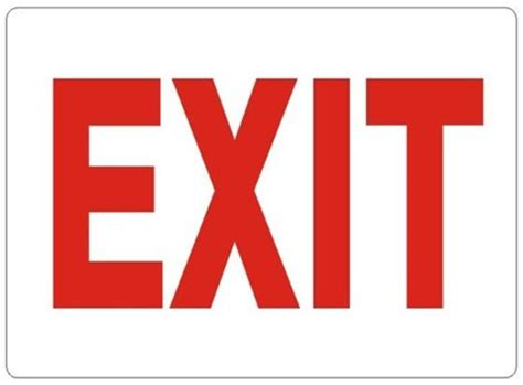 signs of an osha compliant exit sign