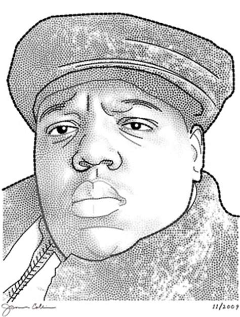 how to draw biggie drawing biggie smalls