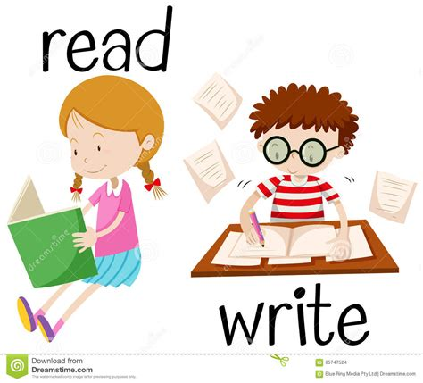 Essay About Reading And Writing by Reading And Boy Writing Stock Vector Image 65747524