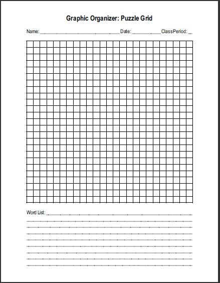 free printable blank word search puzzle grid student