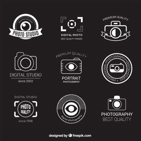 design a logo photography retro photography badges vector free download