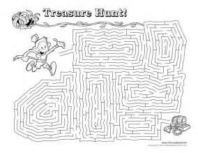 printable maze activity sheets treasure hunt maze tim s printables