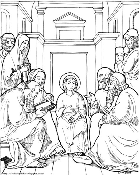 jesus in the temple at 12 coloring page jesus at 12 in the temple free colouring pages