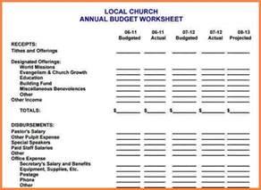 church budget spreadsheet template 10 sle church budget spreadsheet excel spreadsheets