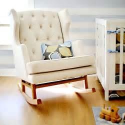 Nurseryworks traditional wing back rocking chair