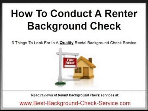 Rental Background Check Service Renter Background Check How To Choose A Rental Background Check Service