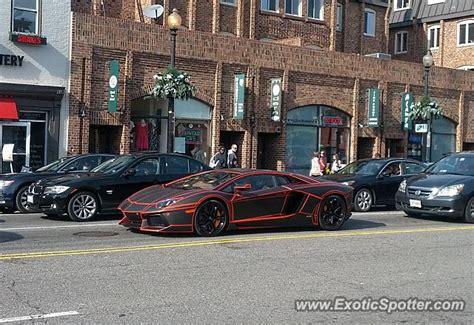 Lamborghini In Virginia Lamborghini Aventador Spotted In Washington Dc Virginia