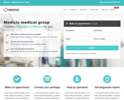medicio 226 free bootstrap landing page theme freebies