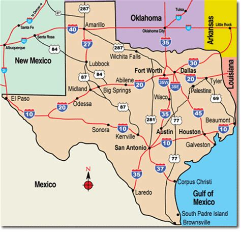 travel texas map texas travel pal international