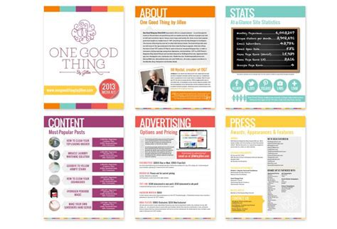 Here S How To Create A Media Kit For Your Blog Monsterpost Press Pack Template