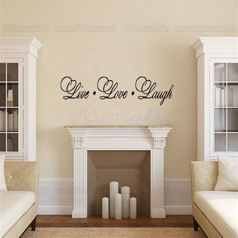framing vinyl wall decals words and quotes live laugh wall decal sticker