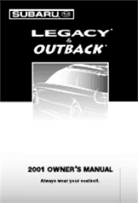 online auto repair manual 2001 subaru outback navigation system 2001 subaru outback manuals