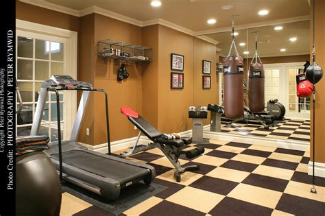 exercise room traditional home new york by