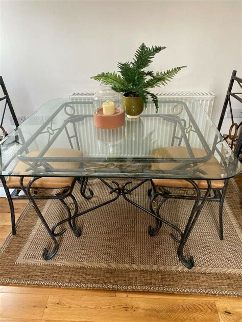 unique glass dining roomconservatory table   chairs